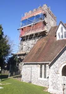 Droxford church tower